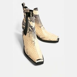 New Jeffrey Campbell Poker Snake Ankle Boots